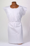 Tidi Products 910420 80cm x 110cm . Tissue Poly & Tissue Disposable Patient Exam Gowns White - 50 Per Box