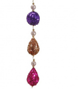 NorthLight 23cm . Rich Plum Purple Gold & Pink Sequin Ball & Drop Christmas Dangle Ornament