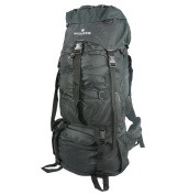 Harvest LM039 BLACK 600D Rip-Stop Poly Mountain Bag with Rain Cover