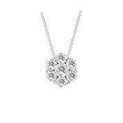 Luis Creations PRL1188K-050 0.50 Ct. Diamond Cluster Pendant In 14K Gold
