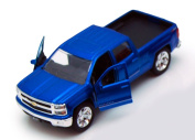 Chevy Silverado Pickup Truck, Blue - Jada Toys Just Trucks 97017 - 1/32 scale Diecast Model Toy Car