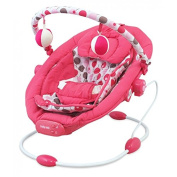 Baby Vibrating Musical Bouncer, Baby Rocker Chair, Hanging Ball Toys - PINK