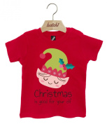 Batch1 Christmas Is Good For Your Elf Xmas Festive Popper Neck Baby T-Shirt