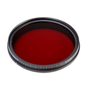 Fotga 55mm Six-in-One Adjustable Infrared IR Pass X-Ray Lens Filter 530nm to 750nm