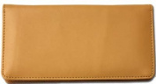 Tan Smooth Leather Chequebook Cover