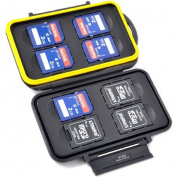 JJC MC-SD8 Water-Resistant Holder Storage Memory Card Case For 8PCS SecureDigital