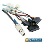 External Mini SAS HD SFF-8644 to 4 x 29-Pin SAS SFF-8482 Cable 1 Metre