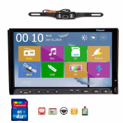 Pupug Free Camera Included 2014 New Win 8 Ui Design 18cm Double-din in Dash Car DVD Player Stereo Radio Audio Touchscreen LCD Monitor with Dvd/cd/mp3/mp4/usb/sd/amfm/rds/bluetooth and GPS Navigation Car Logo Chosen Function Hd:800*480 LCD Free GPS An ..