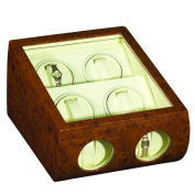 Impenco Watch Winder Box - Winds 4 Holds 6 Watches