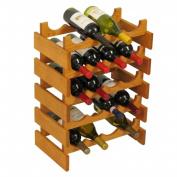 Wooden Mallet WR45MO 20 Bottle Dakota Wine Rack
