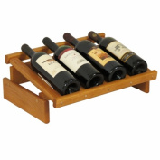 Wooden Mallet WRD4MO 4 Bottle Dakota Wine Display