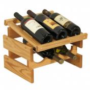 Wooden Mallet WRD31LO 6 Bottle Dakota Wine Rack with Display Top