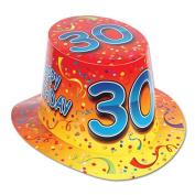 Beistle 66211-30 Happy 30 Birthday Hi-Hat Pack Of 25