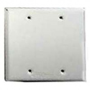 Bell Weatherproof Blank Cover 2G Box Mt White 5175-1