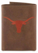 ZeppelinProducts UTX-IWE2-CRZH-LBR Texas Trifold Embroidered Leather Wallet
