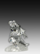 Asfour Crystal 663-17 1.85 L x 1.65 H in. Crystal Bear Eating Fish Animals Figurines