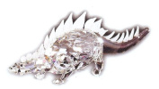 Asfour Crystal 972-65 6.18 L x 2.08 H in. Crystal Dinosaur Animals Figurines