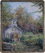 Manual Woodworkers and Weavers ATWITC Worship In The Country Tapestry Throw Blanket Fashionable Jacquard Woven 130cm X 150cm .