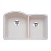 Blanco 440181 Diamond 4.4cm . Bowl Silgranit II Undermount Kitchen Sink - Biscuit