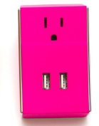 Clear Gear SW-003 Wally - Dual USB Plush DC Wall Charger Magenta