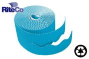 RiteCo Raydiant 22815 Riteco Trim-It Corrugated Scalloped Decorative Border. Two .60cm . X 15m Strips Per Roll Bright Blue 6 Rolls