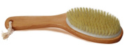 CareforYou® Dry Skin Body Brush with Curved Natural Wood Handle and Hanging Loop