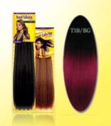 Beauti Collection Human Hair Weave -Yaki Weave 25cm - T1B/Bg Burgundy - Size