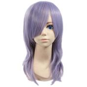 Etruke Long Pandora Hearts Curly Purple Dance Cosplay Wigs