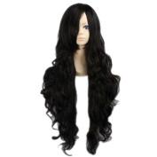 Etruke Long Wave Inuyasha Naraku Black Cosplay Wigs