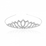 Pixnor PIXNOR Bride Bridesmaid Girl's Rhinestone Decorated Hairband Tiara
