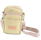 QUALITY MENS BOYS UNISEX TRAVEL ACCESSORIES SHOULDER BAG SMALL PASSPORT POUCH KHAKI