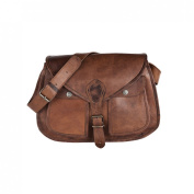 81stgeneration Women's Genuine Leather Vintage Style Satchel Crossover Casual Everyday Bag