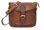81stgeneration Women's Genuine Small Leather Messenger Style Handbag