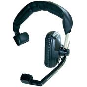 Beyerdynamic DT-108-200-50-BLACK Single-Ear Headset with Dynamic Hypercardioid Microphone, 50 Ohms, Black