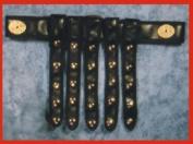 Alexanders Costume 15-052/B Roman Studded Belt - Black