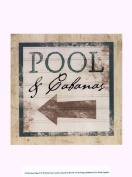 Old World Prints OWP76362D Beach Signs X Poster Print by Beth Anne Creative -9.5 x 13