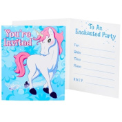 Party Destination 235476 Enchanted Unicorn Invitations