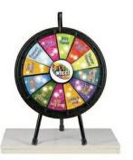 Games People Play 63007 12 Slot Mini Prize Wheel Game 50cm . Diameter