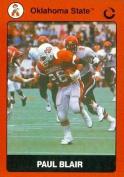 Autograph Warehouse 91693 Paul Blair Football Card Oklahoma State 1990 Collegiate Collection No . 22