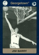 Autograph Warehouse 101974 Jim Barry Basketball Card Georgetown 1991 Collegiate Collection No. 18