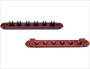 CueStix WR6S CHOCOLATE Wall Rack - Standard 6 Cue with Clips Chocolate