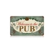 Past Time Signs V085 Welcome Pub Food and Drink Vintage Metal Sign