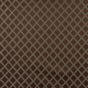Designer Fabrics E614 140cm . Wide Diamond Brown Green And Gold Damask Upholstery And Window Treatment Fabric