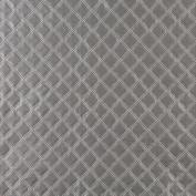 Designer Fabrics G356 140cm . Wide Silver Shiny Metallic Diamonds Upholstery Faux Leather
