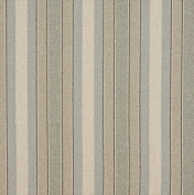Designer Fabrics D520 140cm . Wide Blue Beige And Green Striped Washed Linen Woven Upholstery Fabric