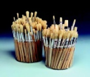 Sax Round White Bristle Brush School Pack - Assorted Size Natural Pack 144