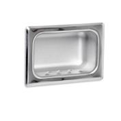 AJW UX80-SF Satin Soap Dish - Recessed