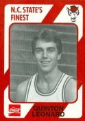 Quinton Leonard Basketball Card (N.C. North Carolina State) 1989 Collegiate Collection No.109