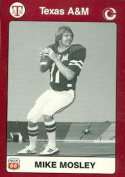 Mike Mosley Football Card (Texas A & M) 1991 Collegiate Collection No.82