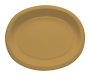 Touch of Colour 433276 30cm . Oval Platters Glittering Gold - Case of 96